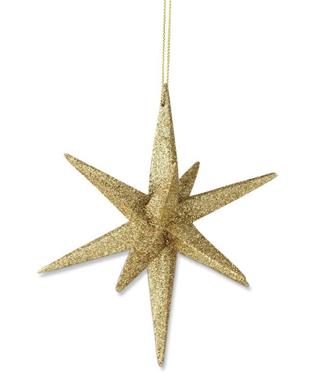 Gold Moravian Star Ornament