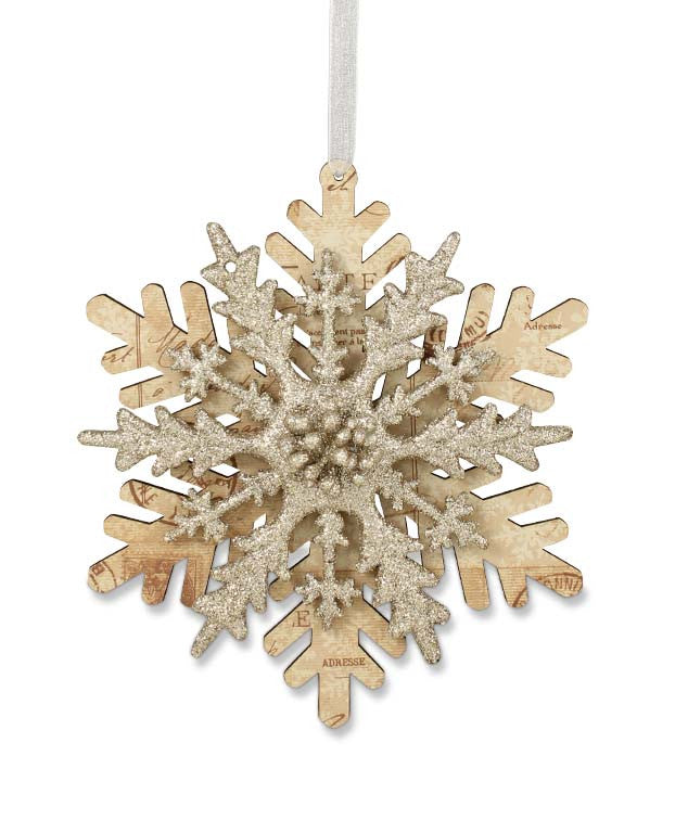 Layered Paper Snowflake Ornament