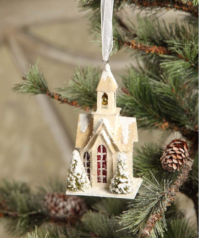 Woodland Church Ornament
