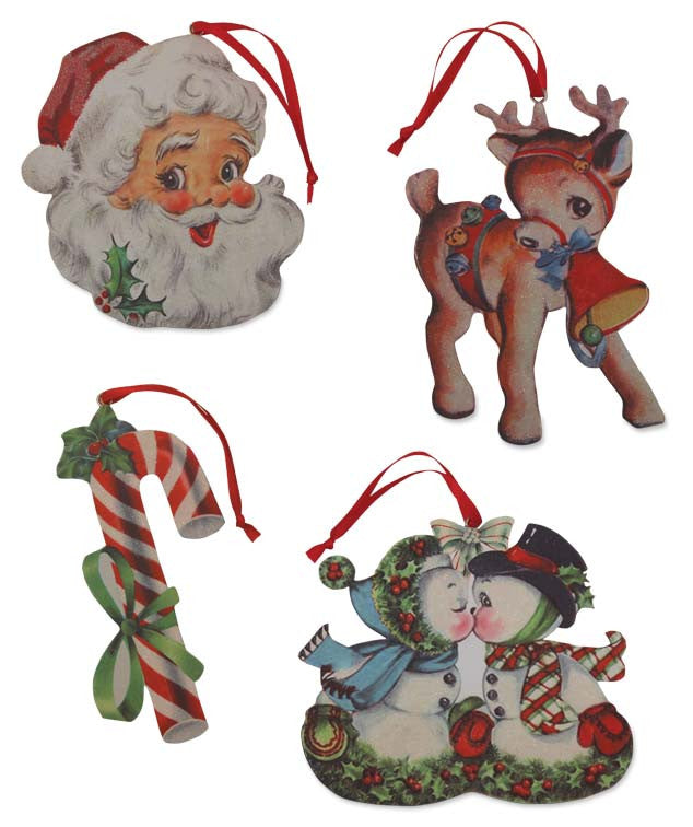 Retro Christmas Diecut Ornaments