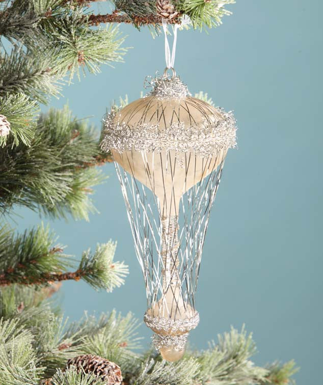 Silver Vintage Air Balloon Ornament