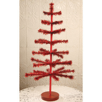 "30"" Red Feather Tree"
