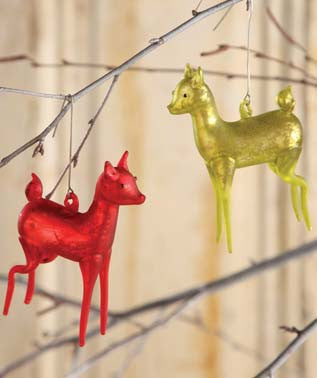 Retro Mercury Deer Ornament