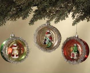 Round Indent Ornaments