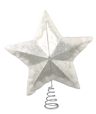 Silver Foil Star Tree Topper