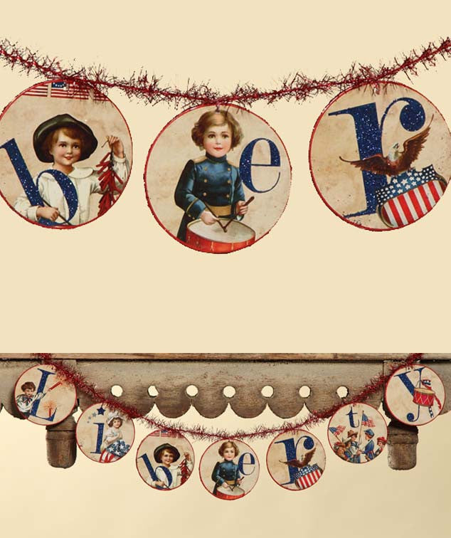 Liberty Disc Garland