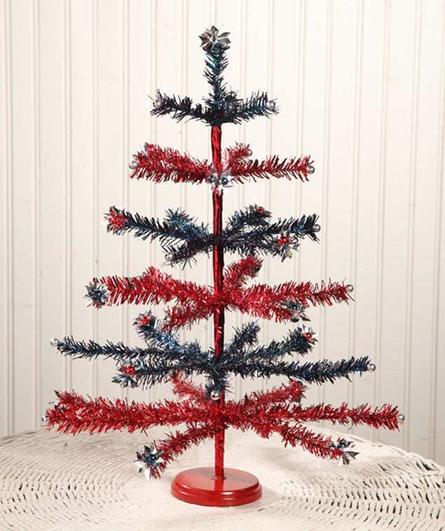 Americana Tinsel Tree