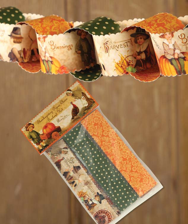 Thanksgiving Paper Chain Garland