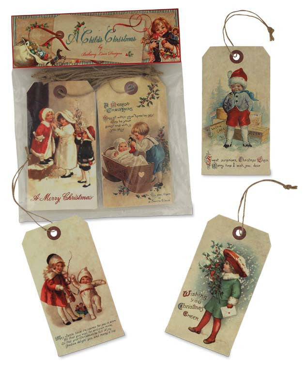Childs Christmas Tag Ornaments