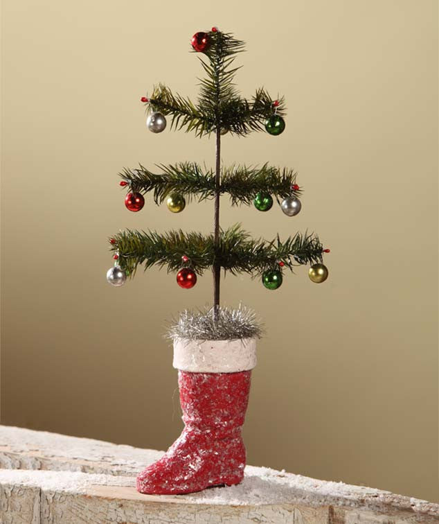 Feather Tree With Red Boot SM