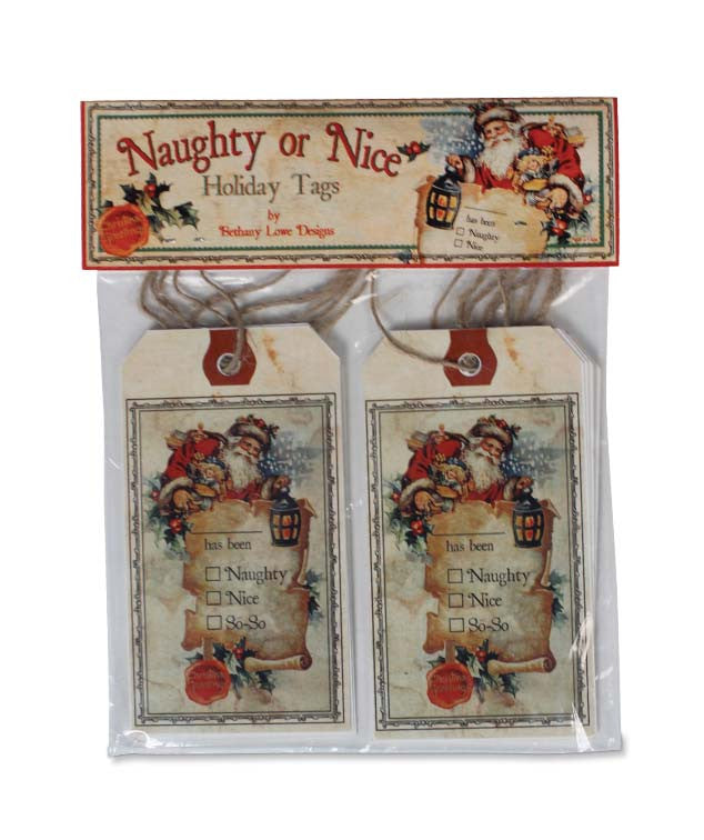 Naughty Or Nice Tags