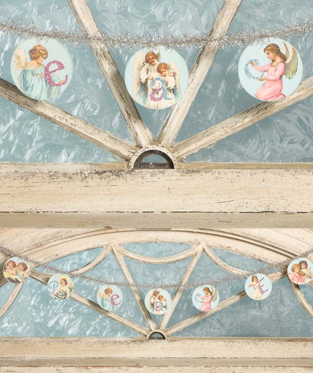Pastel Angel Disc Garland