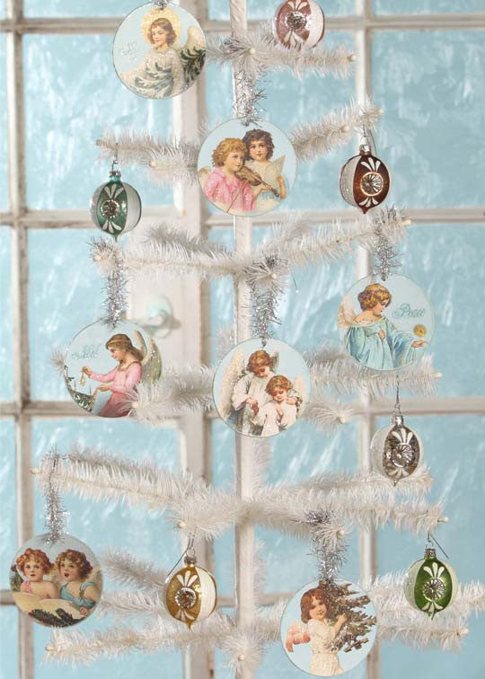 Pastel Angel Disc Ornaments