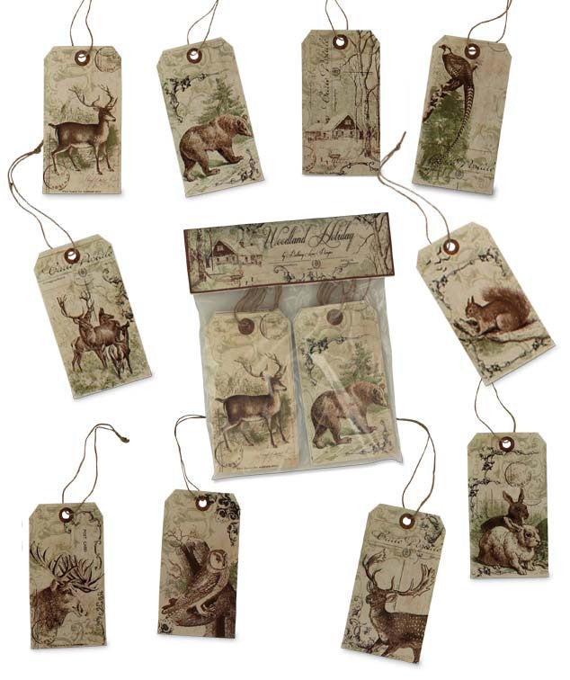 Woodland Silhouette Tags