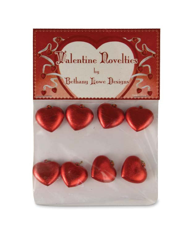Mini Red Heart Ornaments