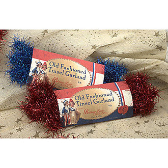 Red Tinsel Garland Americana