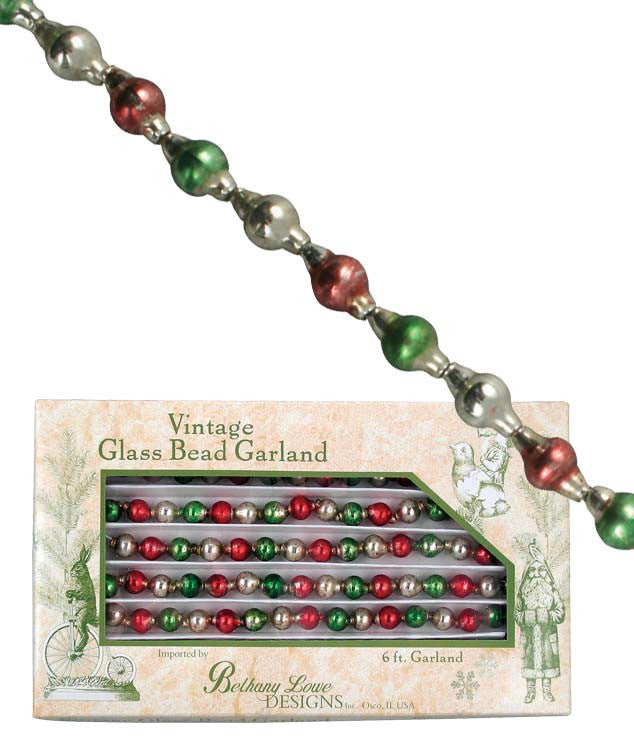 Traditional Christmas Glass Bead Garland