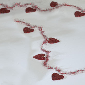 Glittered Heart Garland
