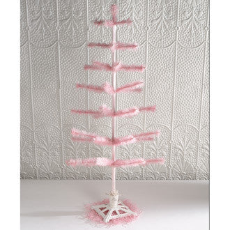Pink Feather Tree 36""