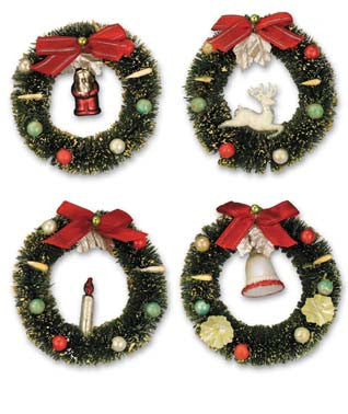 Chrimbo Wreath Ornaments