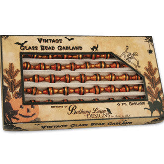 Halloween Bead Garland in Vintage Inspired Box