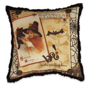 Halloween Memories Pillow with Vintage Image