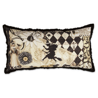 Bewitching Pillow with Vintage Images