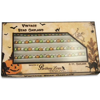 Fall Bead Garland with Box