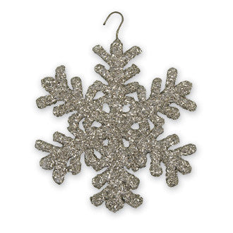 Large Glittered Snowflake Ornaments - 6