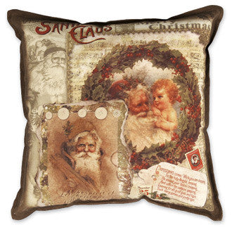 Santa Collage Pillow