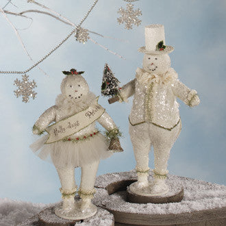 Small Holly Days Snow Couple