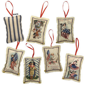 Americana Fabric Ornaments