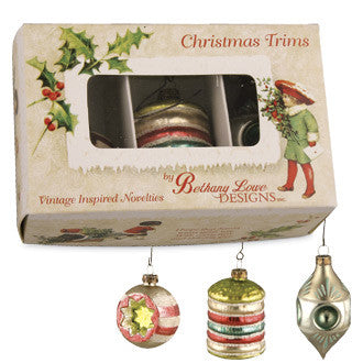Vintage Indent Ornaments