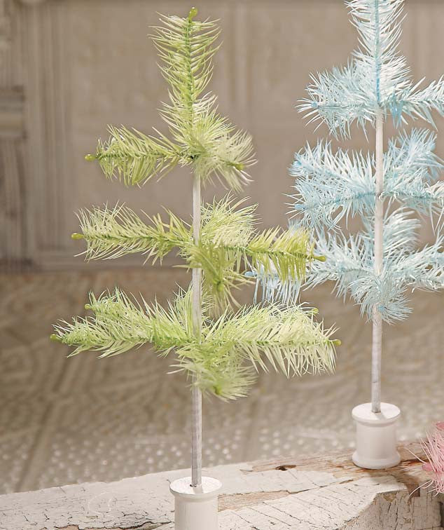 Faded Green Feather Tree 12""