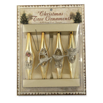 Romantic Indent Icicle Ornament