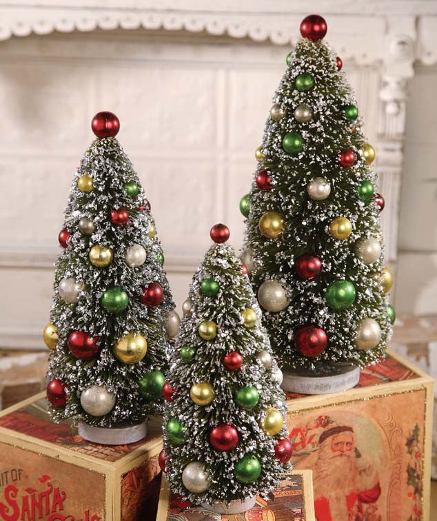 Christmas Bottle Brush Trees