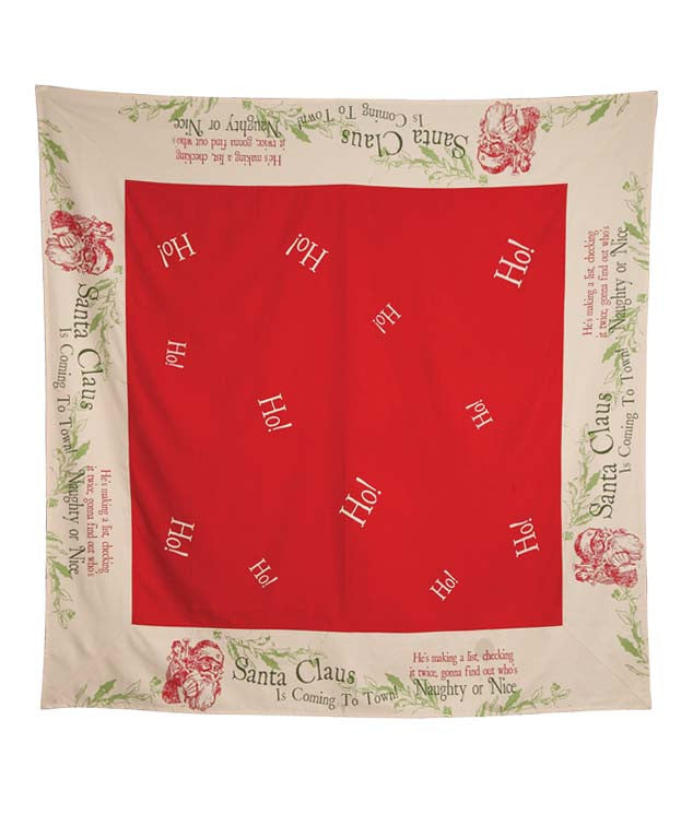 Vintage Style Christmas Tablecloth