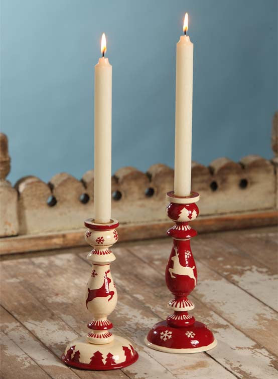Leaping Deer Candlesticks