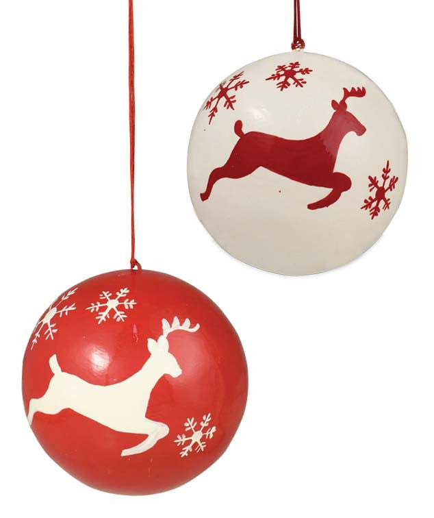 Leaping Deer Ball Ornaments