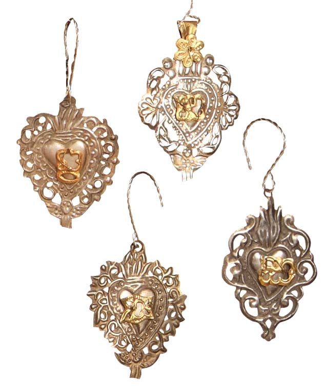 Small Tin Medallion Ornaments