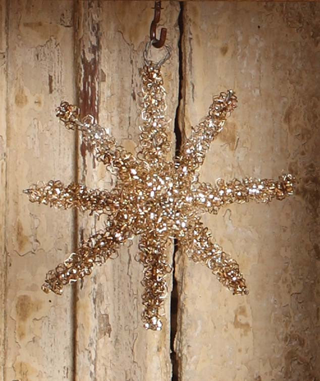 Wire Tinsel Star Ornament