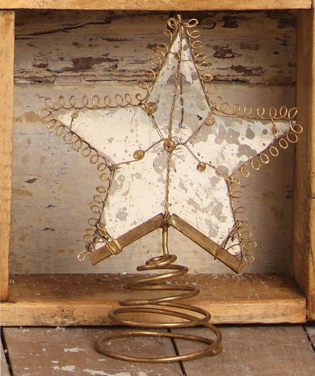 Wire Wrapped Large Star Tree Topper