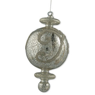 Filigree Glass Finial Ornament