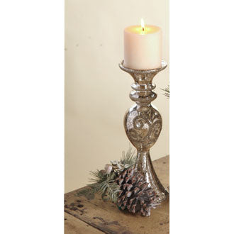 Filigree Candlestick Large Antique Silver