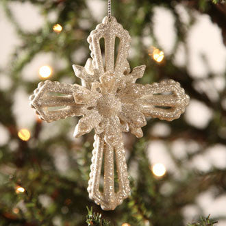 Platinum Cross Ornament