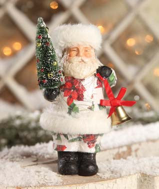 Decoupage Santa with Fur Trim