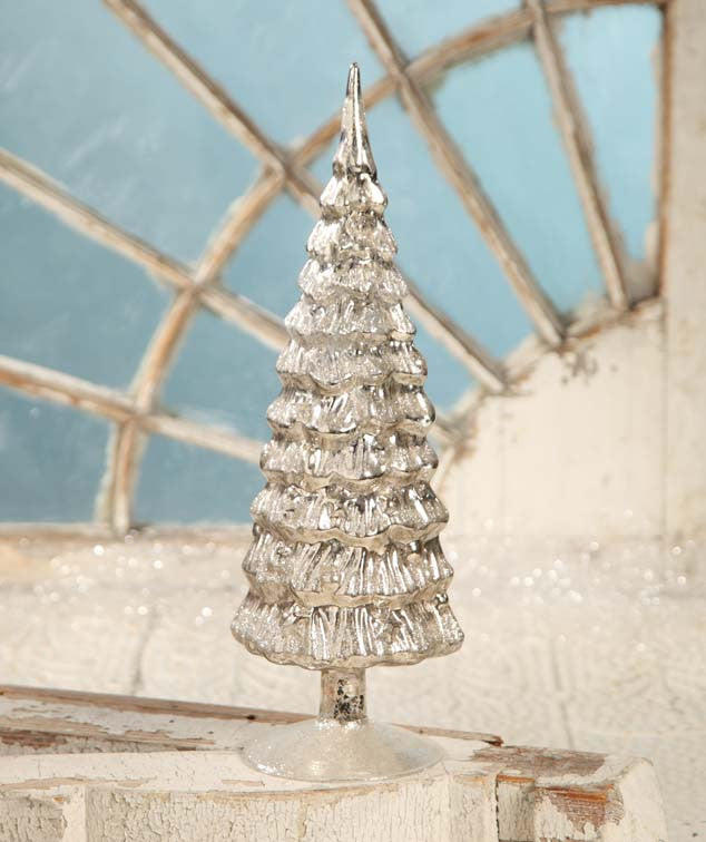 Antique Silver Mercury Glass Tree