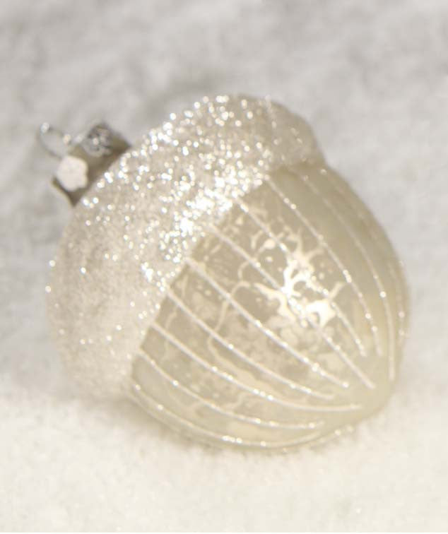 Antique Silver Acorn Ornament - Bethany Lowe Christmas
