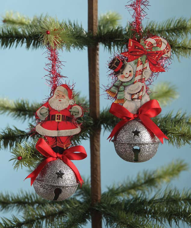 Retro Sleighbell Ornaments