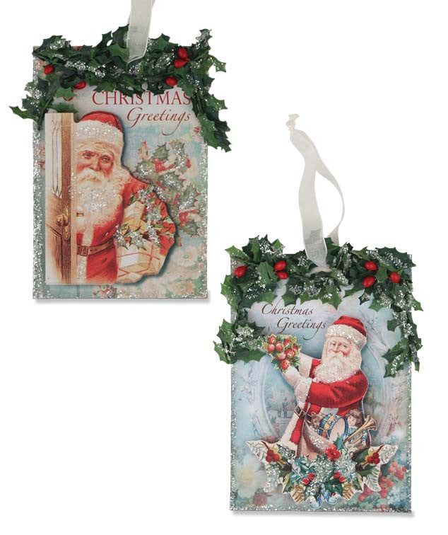 Santa Postcard Ornaments